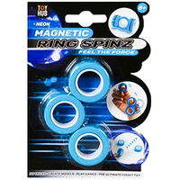 Assorted Neon Magnetic Ring Spinz: Pack of 3 Rings