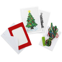 Make Your Own Cross Stitch Card Kit: Tree
