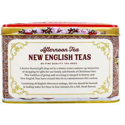 Seasons Greetings Gift Shop English Afternoon Tea Tin - 40 Teabags image number 4