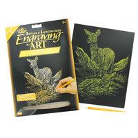 Engraving Art: Deer