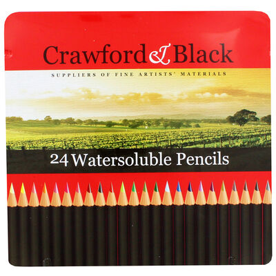 Crawford and Black Watersoluble Pencils - Set Of 24 image number 2