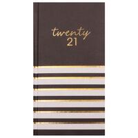 Monochrome Stripes 2021 Slim Week to View Pocket Diary