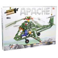Metal Apache Helicopter Model Kit: 384 Pieces