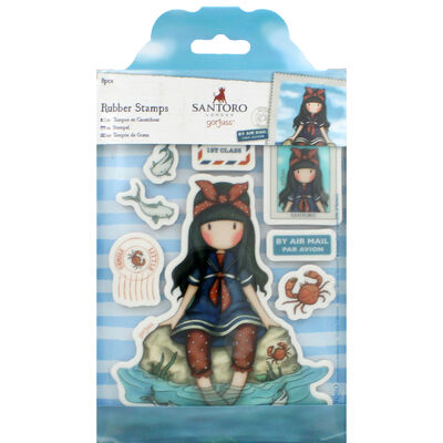 Santoro 8 Piece Rubber Stamp Set - Little Fishes image number 1