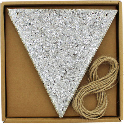 Make Your Own Silver Glitter Bunting image number 1