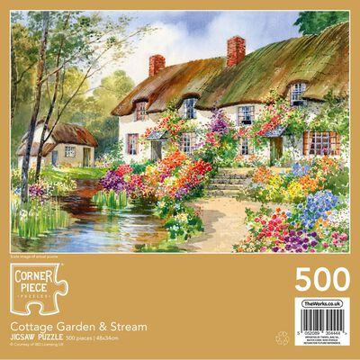 Cottage Garden & Stream 500 Piece Jigsaw Puzzle image number 3