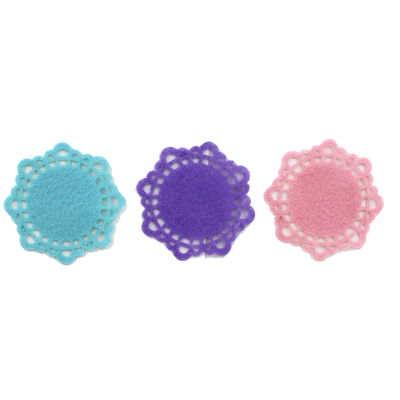 Small Pastel Felt Doilies - 6 Pack image number 2