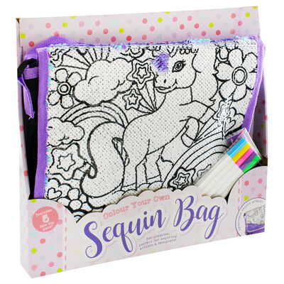 Colour Your Own Sequin Bag image number 1