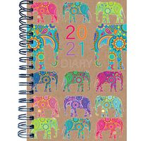 A5 Elephant 2021 Week To View Diary