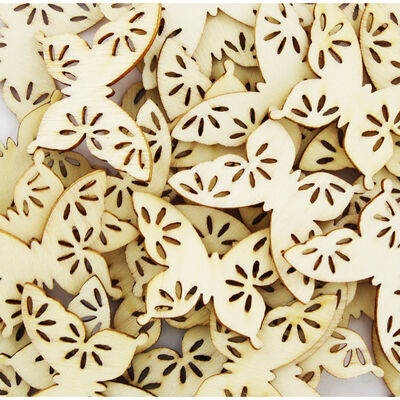 60 Wooden Butterflies - Natural image number 2