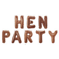 Rose Gold Foil Hen Party 16 Inch Balloons