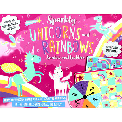 Sparkly Unicorn and Rainbows: Snakes and Ladders image number 1