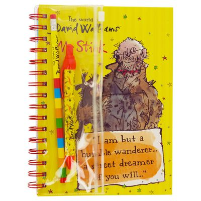 The World of David Walliams A5 Notebook and Writing Set image number 1