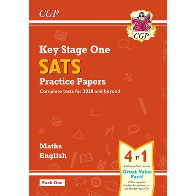 KS1 Maths and English SATS 4-in-1 Practice Papers image number 1