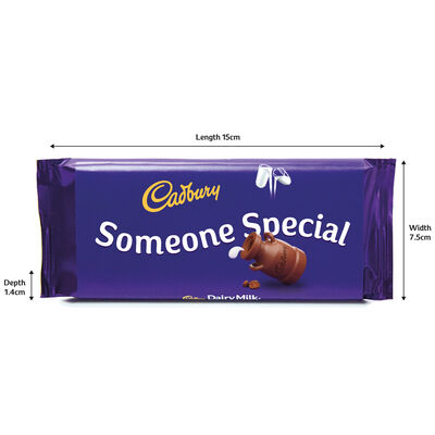 Cadbury Dairy Milk Chocolate Bar 110g - Someone Special image number 3