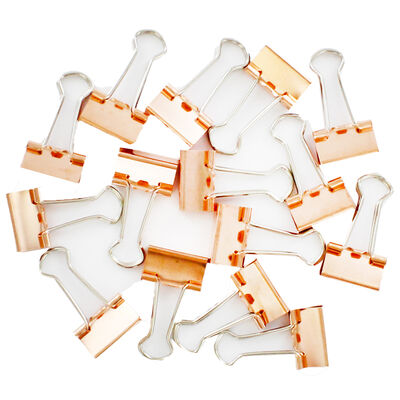Rose Gold Bulldog Clips - Pack of 20 image number 2