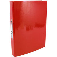 Bright Red A4 Ring Binder File