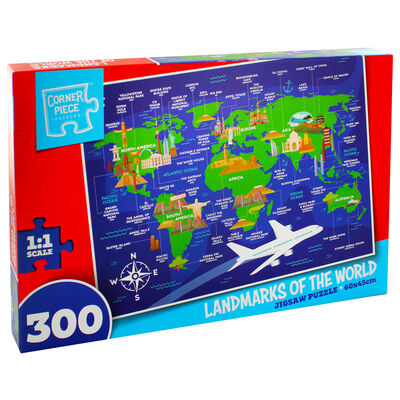Landmarks of the World 300 Piece Jigsaw Puzzle image number 1