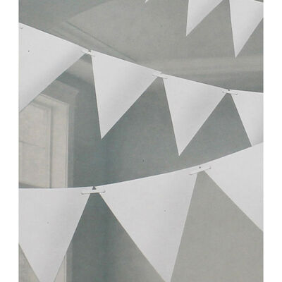 White Paper Pennant Banner 4.5m Bunting image number 2