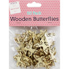 60 Wooden Butterflies - Natural image number 1
