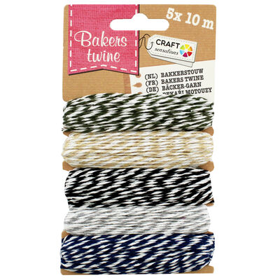 10m Neutrals Bakers Twine - 5 Pack image number 1