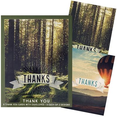Assorted Thank You Notecards: Pack of 8 image number 2