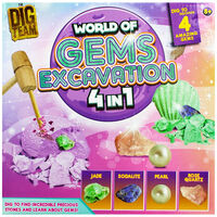 World of Gems 4-in-1 Excavation Kit