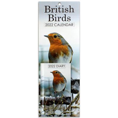 British Birds 2022 Slim Calendar and Diary Set image number 1