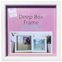 White Deep Box Frame - 25cm x 25cm