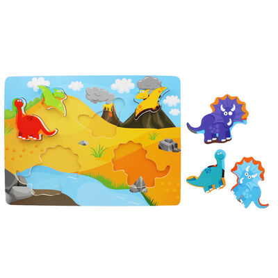 Chunky Wooden Puzzle - Dinosaurs image number 2