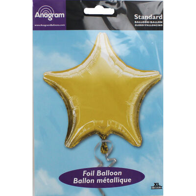 18 Inch Gold Star Helium Balloon image number 2