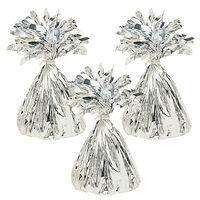 Silver Balloon Weights: Pack of 3