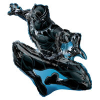22 Inch Black Panther Super Shape Helium Balloon