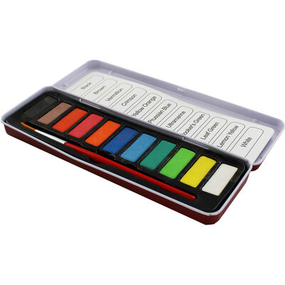 11 Watercolour Tablets with Brush image number 2