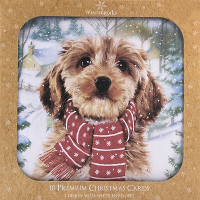 Dog Christmas Cards: Pack Of 10 image number 1