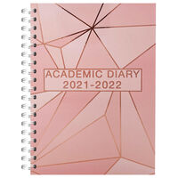 A5 Rose Gold 2021-2022 Day a Page Diary