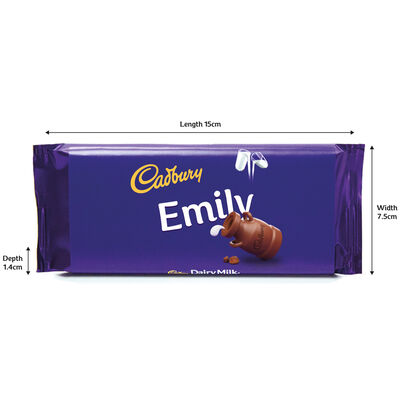 Cadbury Dairy Milk Chocolate Bar 110g - Emily image number 3