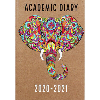 A5 Elephant Head Week to View 2020-21 Academic Diary image number 1