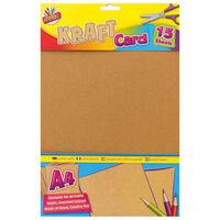 Art Box A4 Kraft Card: 15 Sheets
