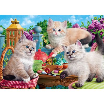 Kitten Tea Party 500 Piece Jigsaw Puzzle image number 2