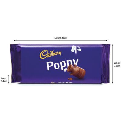 Cadbury Dairy Milk Chocolate Bar 110g - Poppy image number 3