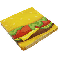 Burger Small Paper Napkins - 16 Pack
