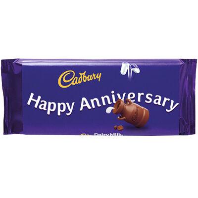Cadbury Dairy Milk Chocolate Bar 110g - Happy Anniversary image number 1