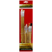 Assorted Crawford & Black Paint Brushes: Pack of 12
