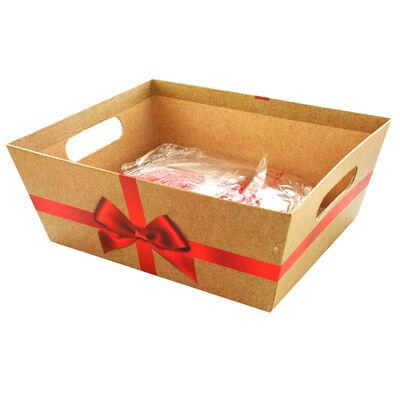 Red Bow Cardboard Gift Hamper Kit image number 1