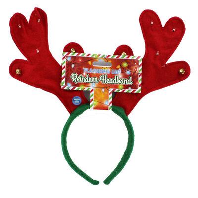 Flashing LED Reindeer Headband image number 1