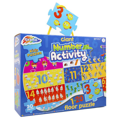 Giant Number Activity 30 Piece Floor Puzzle image number 1