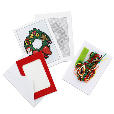 Make Your Own Cross Stitch Card Kit: Wreath image number 2