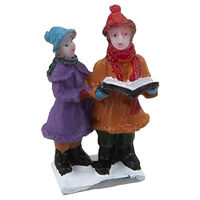 Resin Christmas Carol Singer Figurine
