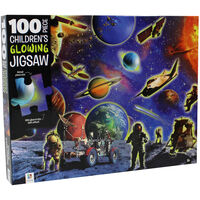 Space Explorers 100 Piece Glowing Jigsaw Puzzle
